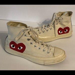 Comme Des Garçon Play High Top Sneaker 10